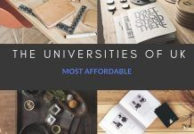 Most affordable the Universities of UK