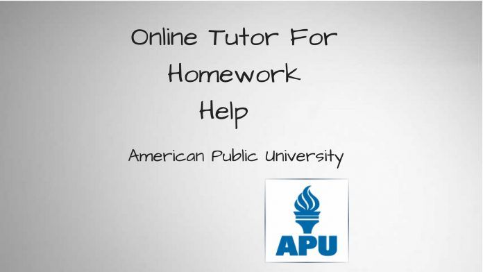 Online tutor for assignment help of American Public University