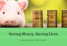 assignment services on saving money, saving lives